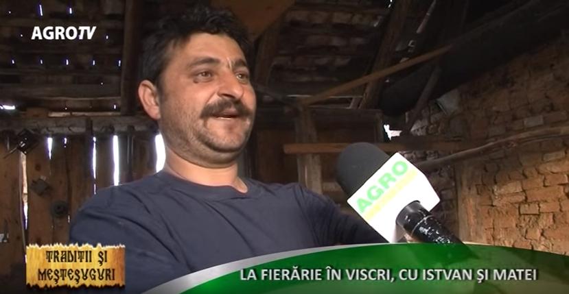 REPORTAJ: La fierărie în Viscri, cu Istvan şi Matei