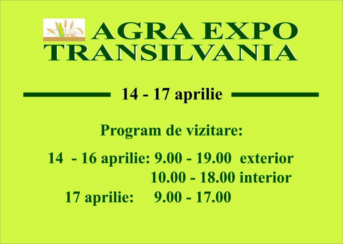 ATENŢIE: Azi începe târgul AGRA EXPO TRANSILVANIA, la Cluj. Vezi programul!