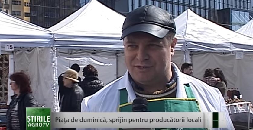 Piaţa de duminică, un sprijin pentru micii producători