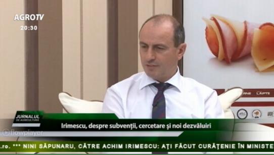 Jurnalul de agricultură: Achim Irimescu-Despre Cercetare şi alte provocări