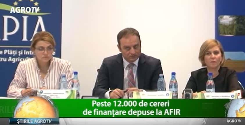 Peste 12.000 de cereri de finanțare depuse la AFIR